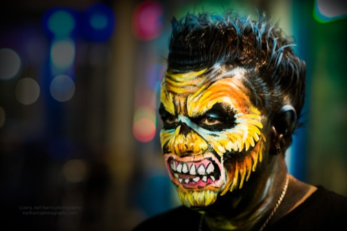 """Fright Face by Alex"" [Click the image to enlarge/reduce its size.] Nikon D800, ISO 3200, f/2.5 at 1/60 sec., 85 mm"