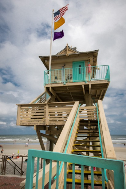 """New Smyrna Beach Lifeguard Tower"" [Click the image to enlarge/reduce its size.] Nikon D800, ISO 640, f/18 at 1/20 sec., 22 mm"