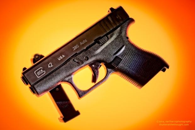 """Glock 42"", Nikon D800, ISO 100, f/20 at 8 sec., 72mm"