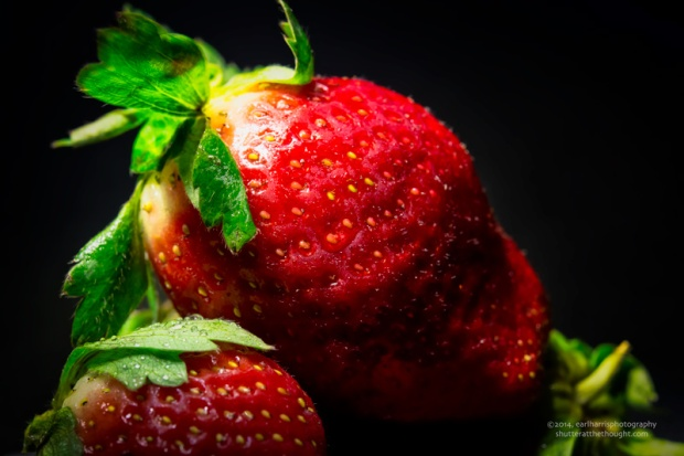 """Strawberry"", Nikon D800 in DX mode, ISO 100, f/11 at 10 sec., 60mm micro"