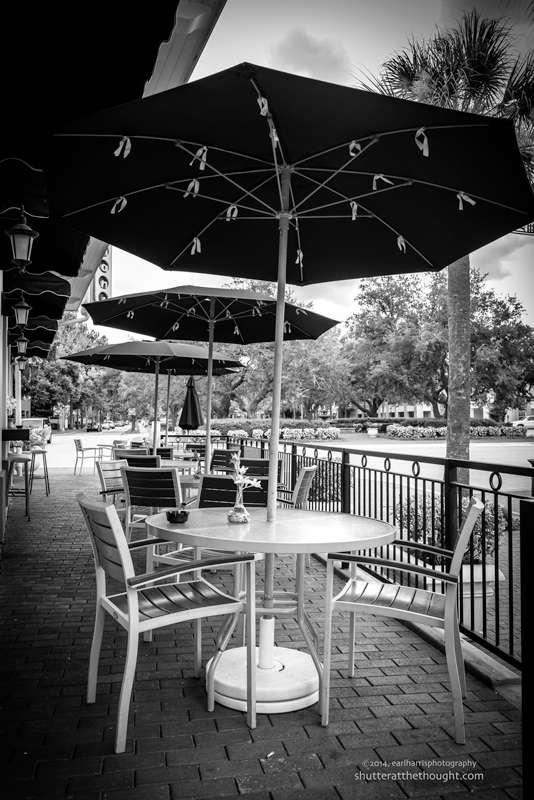 """Turning Tables: Empty Umbrellas"", Nikon D800, ISO 640, f/8.0 at 1/250 sec., 28mm"