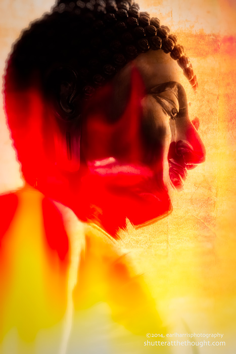 """Buddha in Flames"", Nikon D800, ISO 250, f/8 at 1/200 sec., 85 mm"