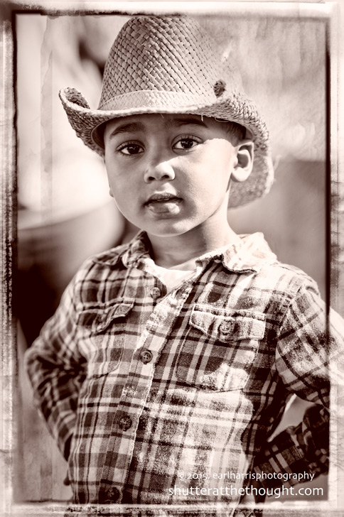 """Little Cowboy"",  Nikon D700, ISO 160, f/2.8 at 1/1600th sec.,116mm"